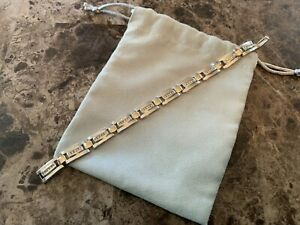 Mens 14k Gold Diamond Bracelet