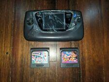 Sega Game Gear Handheld Console - Black, Brand New Screen, All New Capacitors ++