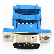 10Pcs D-SUB 9 Pin Male IDC Type Adapter Connector For Flat Cable DB9