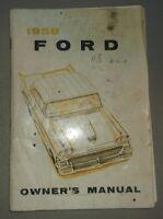 1958 Ford Owners Manual Original