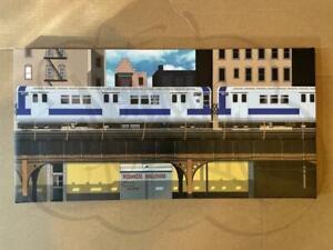 NYC MTA Subway Graffiti Replica Canvas Scene - Blade Car Reference