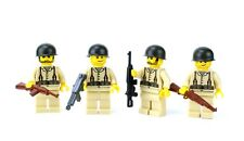 custom US WW2 Army soldiers made with real LEGO(R) Army Squad 4