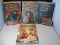 Lot of 4 :Animated Stories from the New Testament  + Bible : 3 New + 1 Excellent