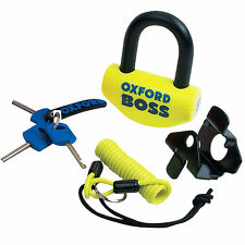 Oxford BOSS Motorcycle Motorbike Brake Disc Lock Yellow 14mm