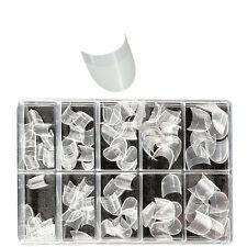 100 Nagelspitzen rund, transparent . In Tipbox. Künstliche Fingernägel, Nageltip