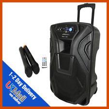 QTX Busker 15 Portable PA Speaker INC WIRELESS MICS USB SD BLUETOOTH & FM Radio