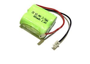2.4V Ni-MH AA 2/3 800mAh 2-Cell Home Phone Rechargeable Battery Universal Plug