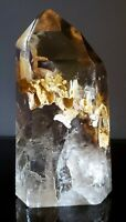 "Smoky Quartz Crystal Point - 8""  - 4lbs - Phantoms. EXCEPTIONAL!  Brazil"