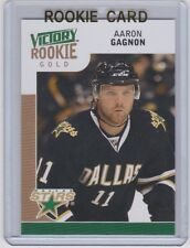 09-10 2009-10 UPPER DECK VICTORY AARON GAGNON GOLD UPDATE RC ROOKIE #310 STARS