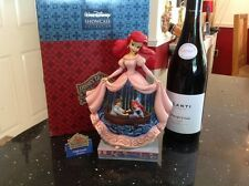 "V RARE disney tradition/jim shore- ariel 'twilight serenade' 9.5"" boxed"