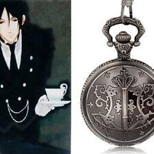 Essential Anime Black Butler Design Pocket Watch Hot Sale Retro Fashion Supplies
