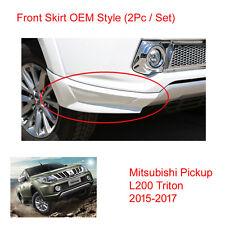 Front Side Skirt White 2 Pc Mitsubishi L200 Pickup Triton at Plus 2015 2016 - 17