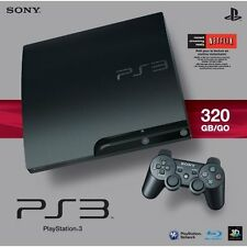 Sony PlayStation 3 Slim 320 GB Charcoal Black Console Very Good 8Z