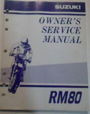 1999 Suzuki RM80 Owners Service Manual OEM 99