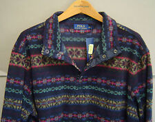 NWT $295 POLO RALPH LAUREN Mens XXL FAIR ISLE FLEECE PULLOVER JACKET 0407208