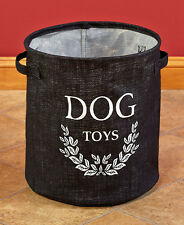The Lakeside Collection Black Dog Toy Storage Bucket