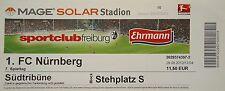 TICKET 2012/13 SC Freiburg - FC Nürnberg