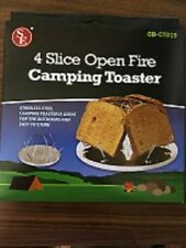 toaster for camping or power outage 4 slice use by fire or over burner backpack