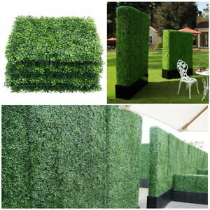 "12pcs 20x20"" Artificial Boxwood Wall Hedge Mat Plant Panels Outdoor Grass Fence"