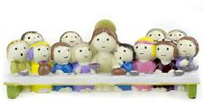 Christian Ornament The Last Supper Statue Children Version of Jesus & Disciples