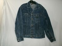 VTG Lee Men's Dark Blue Denim Jean Jacket Lots of Pockets size Medium