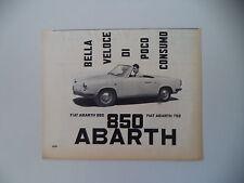 advertising Pubblicità 1960 FIAT ABARTH 850