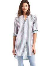 NWOT GAP Stripe band collar tunic, Red & Blue stripe SIZE L      #528001  v15