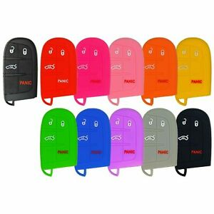 Silicone Protective Rubber Keyless Remote Fob Smart Key Cover For Case Jeep