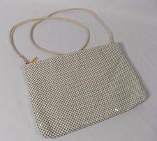 Whiting and Davis Vintage White Cream Mesh Shoulder Bag Clutch VGUC