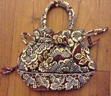 Vera Bradley slate blooms bucket Tote Handbag euc lkn drawstring purse