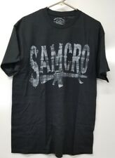 Sons Of Anarchy SAMCRO Grey and Black  T-Shirt (Multiple sizes)  SAMGRAR