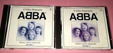ABBA: A VIDEO BIOGRAPHY MUSIC VIDEO KARAOKE VOLUME 1&2 (SINGAPORE)   VCD