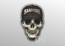 Skull Hardcore Tattoo Hu Vinyl Sticker Decal Window Car Van Bike 001