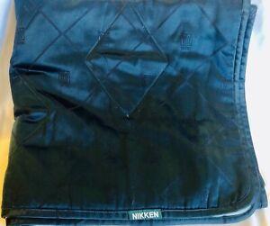 "Nikken Kenkotherm Magnetic Travel Blanket Quilted Teal Blue 36""x71""  With Bag"