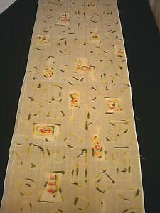"""14-1//2/"""" x 42/"""" freesias f-270 vintage sateen silk kimono fabric"""