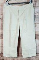 Women's Banana Republic Heritage Ryan Fit Khaki Cropped/Cuffed Pants Sz 16 NWT