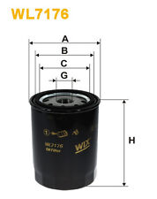 WIX WL7176 Car Oil Filter - Spin-On Replaces W820 PH4826 OC2