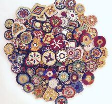 Small Kuchi Afghan Tribal Beaded Dress Medallion 50 Wholesale lot Medals Dance