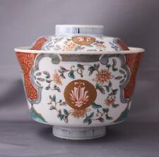 Antique Imari Porcelain Japan Rice Bowl With Lid Japanese Hand Painted