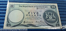 1985 Royal Bank of Scotland Five Pounds B/47 872915 Circulated Banknote Currency