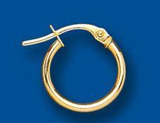 Men's Earring Creole Hoop 9 Carat Yellow Gold Gents
