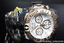 Mens Invicta Reserve Subaqua Noma II Chronograph Swiss Watch LE Gold White New