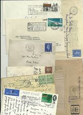 1850-1970 9 POSTAL HISTORY ITEMS FOR BRIGHTON SUSSEX - NUMERAL TRANSORMA SLOGANS