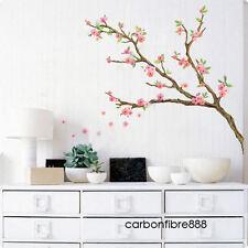 Élégant prune Blossom Fleur PVC Art Decal Wall Stickers