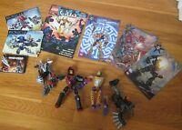Lot of Lego Bionicle 8689 8688 DC Comics Glatorian books club Mistika Toa Gali