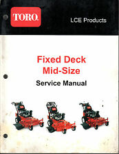 TORO FIXED DECK MID-SIZE MOWERS SERVICE MANUAL P/N 492-9185   (906)