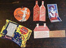 5 PUBLICITÉS ANCIENNES : Pastilles Soler…Moulin rouge… les vins Hauser…Twink…….