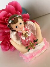 1-Cake Topper Decorations Baptism Communion Girl Baby Angel Bautiso Christening