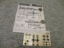 Modeldecal decals 1/72 Set#5 Luftwaffe FW190D-9 Fi156C Do217E-4   N126