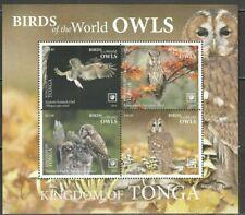 Tonga 2019 birds of prey owls s/s MNH michel bl 132 78 euro